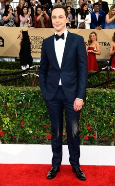 Jim Parsons from 2017 SAG Awards: Red Carpet Arrivals  In Armani