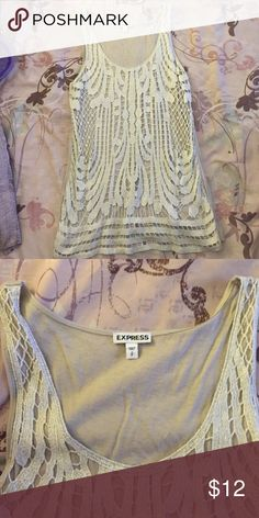 Express tank size small Pretty tank from Express size small. Good condition, gently worn. Express Tops Tank Tops