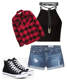 """""""chill Sunday outfit"""" by daveet-valencia on Polyvore featuring H&M, Converse and AG Adriano Goldschmied"""