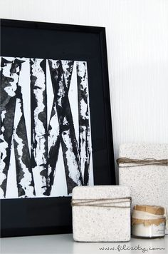 Birken malen leicht gemacht: Easy Peasy Birkenbild Diy Hacks, Ancient Beauty, We Can Do It, Easy Peasy, Diy And Crafts, Sweet Home, Birken, Diy Blog, Black And White