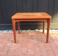 Mid Century Danish Modern End Table Scratch Marks MCM  | eBay