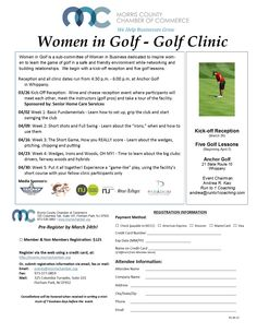 Women in Golf - Golf Clinic | Events | Morris County Chamber of Commerce