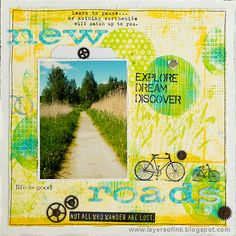 Layers of ink - Gel Printed Circle Background by Anna-Karin Evaldsson. Made for the Simon Says Stamp Monday Challenge Blog, with Ranger's gel printing plates, paint by Dina Wakley, and Stamper's Anonymous stamps by Tim Holtz.