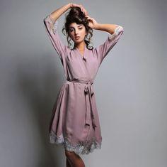 Elise robe - silk lingerie. $790.00, via Etsy.