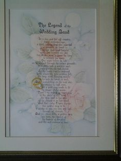 The legend of the wedding poem in colured pencil and ink I did a few years ago