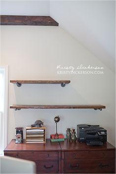 Kristy Dickerson   DIY: Office Shelves