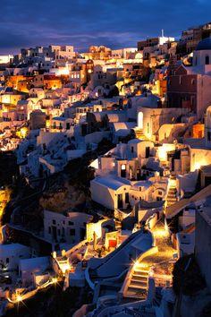 Night on Oia Caldera - Santorini