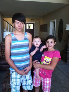 With my cousins Dillon and Olivia