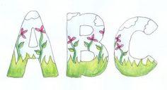 Embellished doodled letters