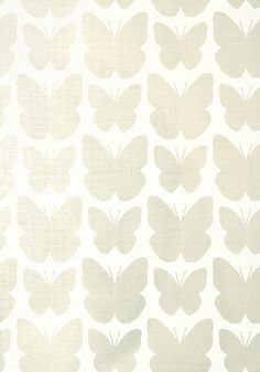 Aldora #wallpaper in #pearl on #white from the Geometric Resource 2 collection. #Thibaut