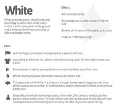 The Psychology of White!