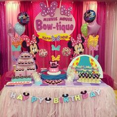 minnie's bow tique birthday party ideas - Google Search