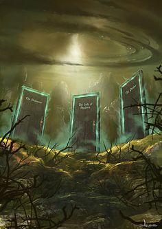 The Drawing of the Three -ArtStation - Book David Lecossu Dark Tower Art, The Dark Tower, Dark Art, Fantasy Landscape, Fantasy Art, Dark Tower Tattoo, Stephen King Books, Danse Macabre, Creative Art