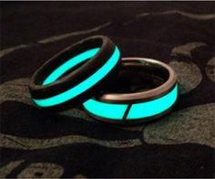 "Glowing Engagement/Wedding Rings from ""The Most Untraditional Engagement Rings » Random Tuesdays"""
