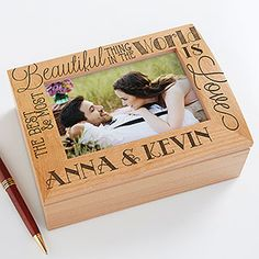 I love this quote! What a cute romantic wedding or anniversary gift idea - you can have it engraved with any 2 names for free!
