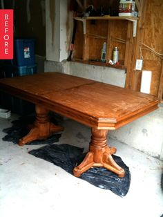 Before & After: $50 Table Goes Farmhouse