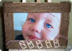 City girl gone coastal: Personalised, twine wrapped picture frame