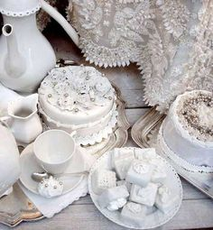 beautiful winter tea party