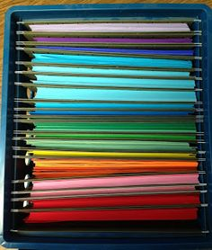 Colored paper organization