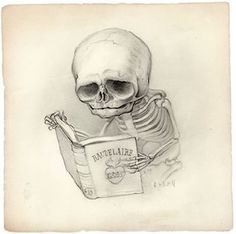 Reader, by Mark Ryden. (Graphite on paper). Oh! Mark Ryden's the guy. Huh! This is one of my Facebook profile pics, but I never knew who it was by…