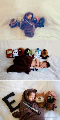 "This family gave their newborn baby a ""Star Wars""-themed photoshoot for overcoming the dark forces of a complicated pregnancy. #starwars #newborn #photoshoot"