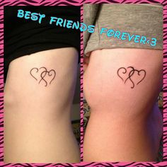 forever friends tattoo | Best Friends Forever Tattoo Designs On Ribs @lovepink1635