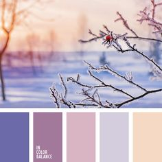 Colors of the winter morning - pink and frizzy blue.  Color inspiration for design, wedding or outfit. More color pallets on color.romanuke.com.