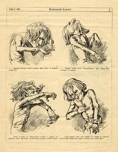 Caricatures of Franz Liszt playing the piano in a Hungarian journal. Dated April 6, 1873