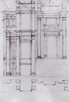 michelangelo design for the medici chapel art