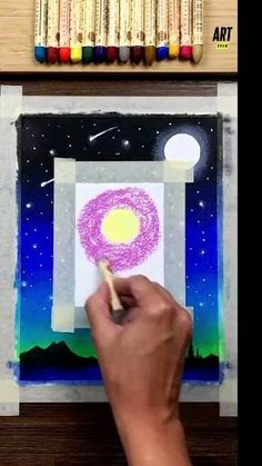 Art Drawings Sketches Simple, Oil Pastel Drawings, Oil Pastel Art, Art Drawings Beautiful, Art Drawings For Kids, Art Painting Gallery, Diy Canvas Art, Diy Art, Creative Art
