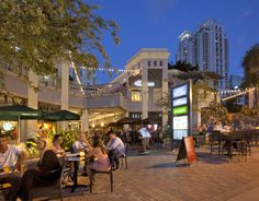 With just a 10 minute walk from the hotel, make sure to visit Mary Brickell Village for the trendiest local nightlife.  #Brickell #Nigthlife