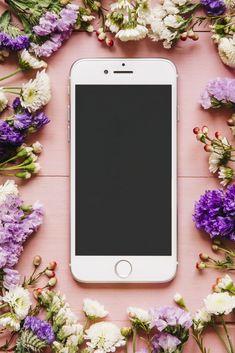 Flower Phone Wallpaper, Iphone Wallpaper, Banner Template Photoshop, Logo Online Shop, Mode Kawaii, Instagram Frame Template, Pastel Background, Artists For Kids, Instagram Blog