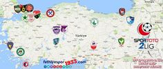 Fethiyespor Fxtures 2016-17 - A @fethiyespor1933 map of all the teams in Spor Toto 2 League White Group