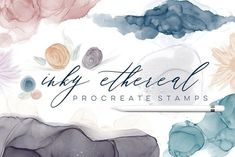 Inky Ethereal Procreate Stamps - Brushes -ad