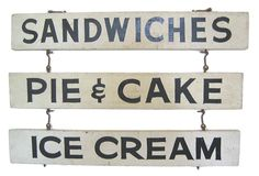 This would be cute over my back porch Hoosier cabinet / Vintage diner signs - to make