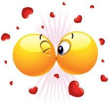 If you're missing someone but want to let them know you've got kissing in mind, you can send this romantic emoticon to convey your feelings. We have an amazing collection of love and romance smileys and emoticons for you to use on FB. Facebook Emoticons, Funny Emoticons, Funny Emoji, Smileys, Smiley Emoji, Smiley Faces, Love Smiley, Emoji Love, Emoji Images