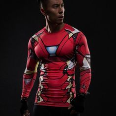 Iron Man Long Sleeve Compression Shirt - NOVELTY LEAGUE