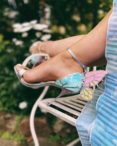 Pastel affair Sophia Webster Chiara, Reception Gown, Giuseppe Zanotti Design, Bridal Heels, Dusty Rose Color, Stylish Blouse Design, Silver Heels, Shoe Art, Boho Look
