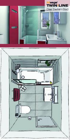Badplanung Mit Köpfchen: Komfortabel Duschen Und Baden Im Kleinen  Badezimmer Mit Der TWINLINE 2 Duschbadewanne