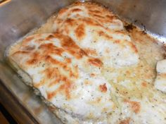 Broiled Parmesan Tilapia Low Carb (4.9g) / High Protein (50.7g)
