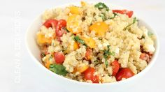 Scroll down to watch the step-by-step video. The next time you get your hands on some juicy, delicious, seasonal tomatoes, do yourself a favor and make this simple quinoa salad. It's light, brightand loaded with garden fresh flavors! Oh! And if you like simple salads like this one, be sure to check out my Mango …