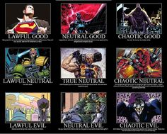 Heroes and Villains D&D Alignment Chart [Awesome Chart Image]