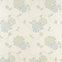 Isodore Pale Forest Floral Wallpaper