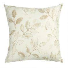 One of my favorite discoveries at ChristmasTreeShops.com: Ravena Leaf Pattern Square Throw Pillow