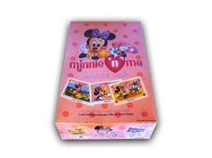 """Minnie & Me Collector's cards Disney 1991 factory sealed box. This trading card unopened box contains 36 factory fresh unopened trading card packs. Each pack contains 12 Minnie N Me trading cards. The box is over 15 years old and still in its original factory packaging. This is a """"Must Have"""" item for any trading card collector and would make a great Christmas gift!"""