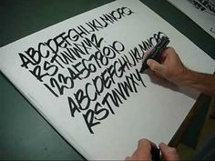 Hand lettering - lesson 1. Using pen to do simple showcard freehand lettering. Great for signs, school home work projects, sales/merchandising promoting a product etc check out my other videos!!!