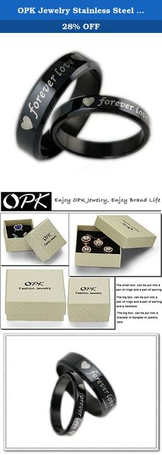 "OPK Jewelry Stainless Steel Wedding Bands Couple Rings ""Forever Love"" Rings Set (1 piece). Brand name:OPK Condition: 100% Brand new Quantity: List price is for one single ring. Please purchase two rings for a set. Metal:Stainless Steel Gender:Mens and Womens packaging: OPP bag inside,and giving a beautiful box or bag as a gift. More Details: as the pictures show Why choose OPK Jewellery? OPK is a well-known brand in the jewellery field.Its mission is to provide the most fashionable and..."