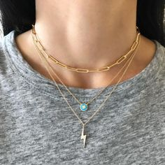 This open link necklace is the perfect layering piece! Gold Filled Chain length: + extender (choker), + extender or + extender Link measurement: Approx. x ** This listing is for the top necklace only. James Jewelry, Gold Filled Chain, Chokers, Gold Necklace, Rose Gold, Diamond, Accessories, Touch
