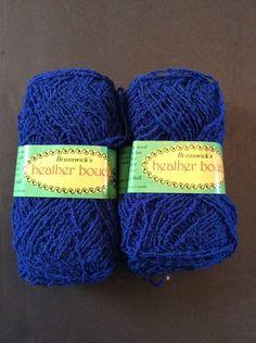 Heather Boucle Brunswick Yarn 2 Skeins Electric Blue 59 grams Orlon Wool 1 75 Oz   eBay