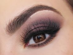 "Classic ""Glam Purple"" Smokey for Autumn"